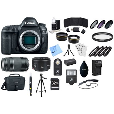EOS 5D Mark IV 30.4 MP Full Frame CMOS DSLR Camera (Body) + Lens Bundle
