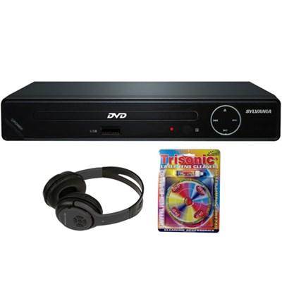 HDMI 1080p High Definition DVD Player w/ USB Port w/ Headphones Bundle