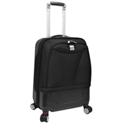 U.S. Traveler 20` Hybrid Carry-On Spinner Luggage, Black