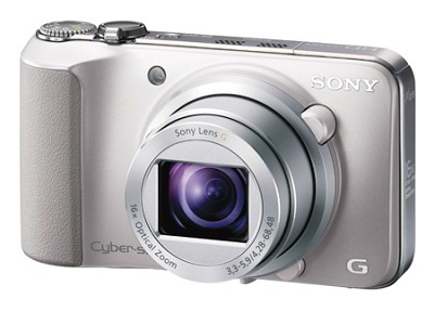 Cyber-shot DSC-HX10V (Silver) 18.2 MP 16x Zoom HD Video w Geotagging - OPEN BOX