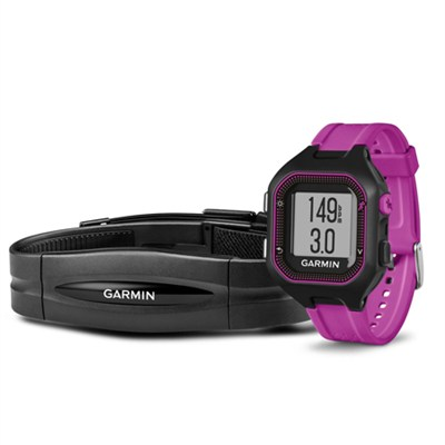 Forerunner 25 GPS Fitness Watch with Heart Rate Monitor - Small - Black/Purple