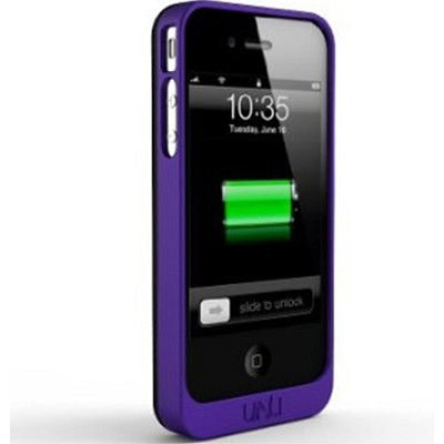 Exera Modular Detachable Battery Case for iPhone 4S 4 - Black/Purple