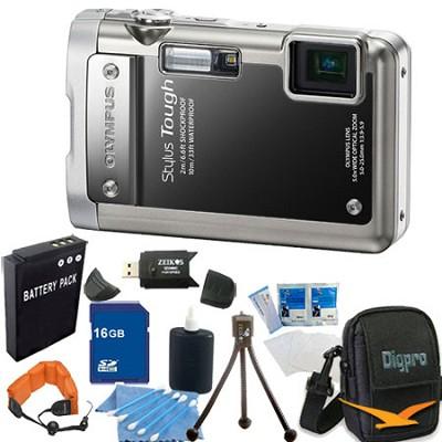 Stylus Tough 8010 Waterproof Shockproof  Digital Camera 16GB Memory Bundle