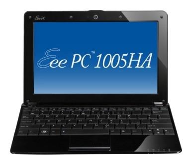 Eee PC 1005HA-P Seashell 10.1 inch Pearl Black NetBook Windows XP