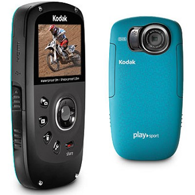 Playsport Zx5 HD Video Camera Waterproof Video Camera - (Aqua)