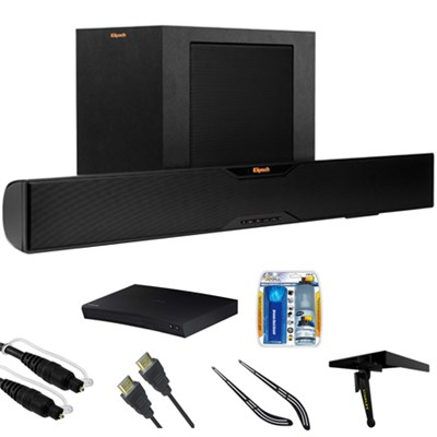 Bluetooth Soundbar With Wireless Subwoofer R-10B w/ Blu-ray Player Bundle