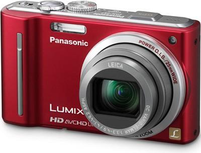 DMC-ZS7R LUMIX 12.1 MP Digital Camera with 16x Intelligent Zoom (Red) - OPEN BOX