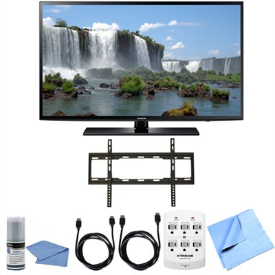 UN65J6200 - 65 inch Full HD 1080p 120hz Smart LED HDTV Flat Mount Bundle