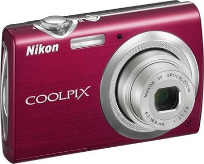 COOLPIX S230 Digital Camera (Gloss Red)