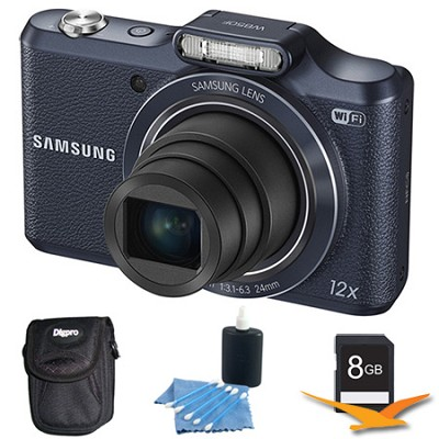 WB50F 16.2MP 12x Opt Zoom Smart Digital Camera Black 8GB Kit