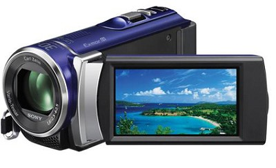 HDR-CX210 HD Camcorder 8GB Camcorder w/ 25x  Zoom (Blue) - OPEN BOX