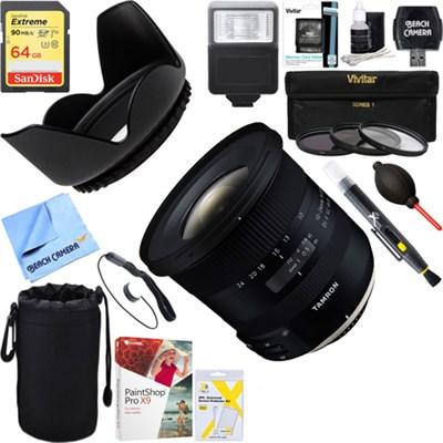 10-24mm F/3.5-4.5 Di II VC HLD Lens For Nikon F Mount/DX Format 64GB Kit