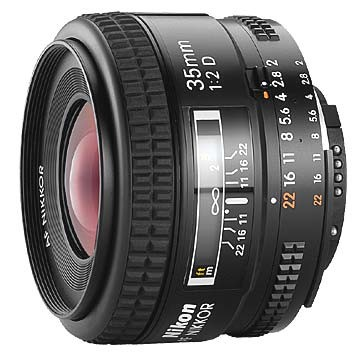 35mm F/2D AF Nikkor Lens, With Nik- REFURBISHED
