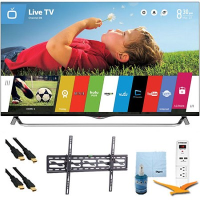 49` 120Hz 2160p 3D Smart LED 4K Ultra HDTV w/ Tilt Mount & HookUp Kit (49UB8500)