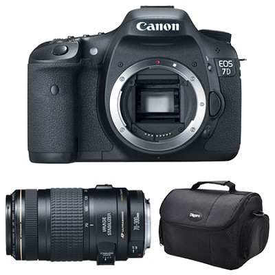 EOS 7D w/ 70-300mm Lens and Case Instant Rebate Bundle