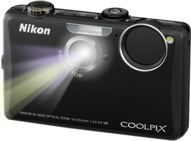 COOLPIX S1100pj Black 14MP Digital Camera w/ Projector