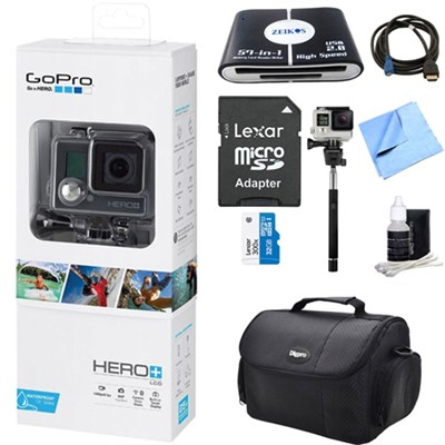 HERO+ LCD Action Camera w/ Touch Display and Integrated Housing Ultimate Bundle