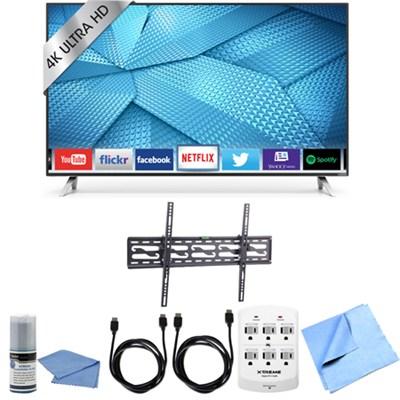 M65-C1 - 65-Inch 240Hz 4K Ultra HD LED Smart HDTV Tilting Wall Mount Bundle
