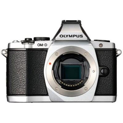 OM-D E-M5 16 MP Interchangeable Lens Camera Body (Silver)
