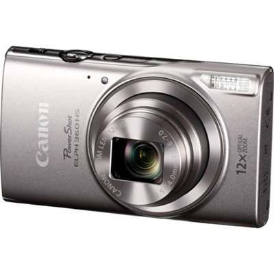 PowerShot ELPH 360 HS Digital Camera with 12x Optical Zoom + Wi-Fi - Silver