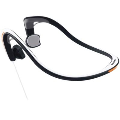 Open-Ear Bone Conduction Headphones with Reflective Design, White - OPEN BOX