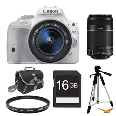 EOS Rebel SL1 Digital SLR with EF-S 18-55mm IS STM Lens White Kit