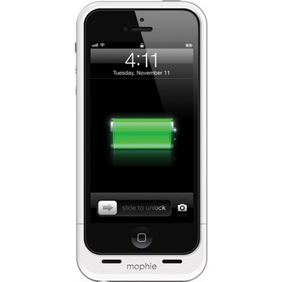 Juice Pack Air Rechargeable External 1700mAh Battery Case for iPhone 5 (White)