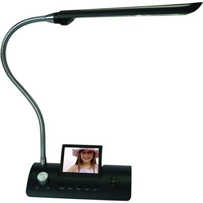 CD358LD 3.5-Inch Desk Lamp Digital Photo Frame (Black)