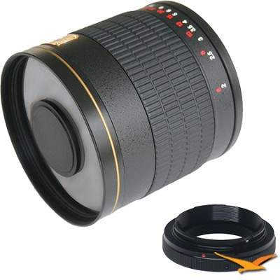800mm F8.0 Mirror Lens for Pentax (Black Body) - 800M-B