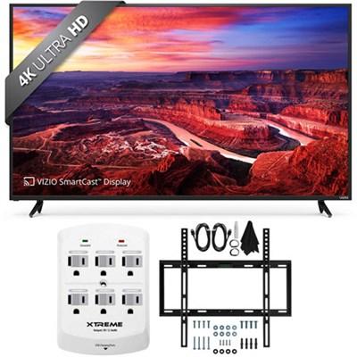 E60-E3 SmartCast 60` Ultra HD Home Theater Display TV w/ Flat Wall Mount Bundle