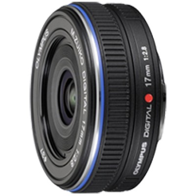 M.Zuiko 17mm f2.8 Micro Four Thirds Wide-angle Pancake Lens (Black) - 261564
