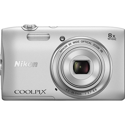 COOLPIX S3600 20.1MP 2.7` LCD Digital Camera with 720p HD Video - Silver