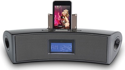 AM/FM Clock Radio with iPod Docking Stereo Speaker System
