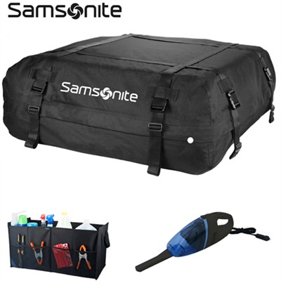 Ultimate Vehicle Ready to Travel Roadtrip Bundle - Rooftop Carrier, Trunk Organi