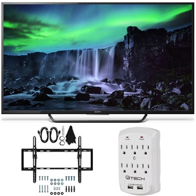 XBR-55X810C - 55-Inch 4K Ultra HD 120Hz Android Smart LED TV Tilt Mount Bundle