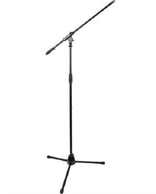Lightweight Professional Tripod Microphone Stand with Boom Arm MSB100BK