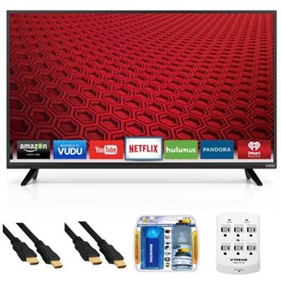 E48-C2 - 48-Inch E-Series 120Hz 1080p Smart LED HDTV Plus Hook-Up Bundle