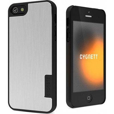 Urban Shield Silver Storm Hard iPhone 5 Case With Metal Cover