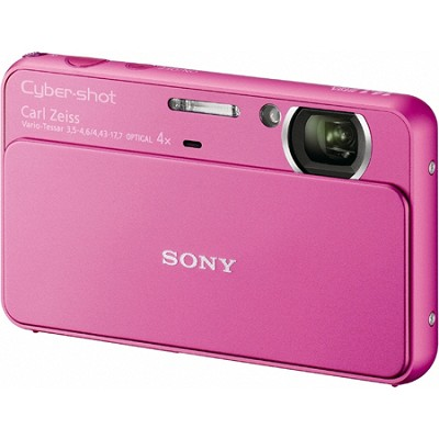 Cyber-shot DSC-T99 14MP Pink Touchscreen Digital Camera - OPEN BOX