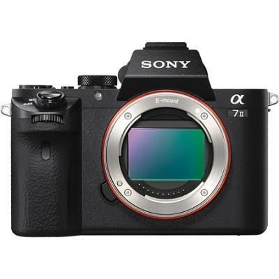 Alpha 7II Mirrorless Interchangeable Lens Camera - Body Only - OPEN BOX