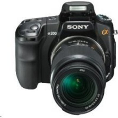 Alpha DSLR-A200 10.2 MP Camera with 18-70mm Lens Kit - OPEN BOX