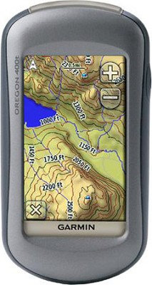 Oregon 400T High-Sensitivity GPS Receiver w/ US Topo Map