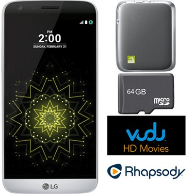 RS988 - G5 32GB Smartphone (Unlocked) Silver w/ CAM Plus Bundle