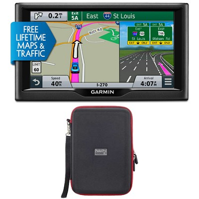 nuvi 68LMT 6` Essential Series 2015 GPS with Lifetime Maps & Traffic Case Bundle