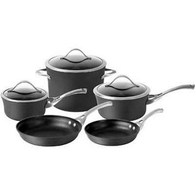 Contemporary Nonstick Dishwasher Safe 8-Piece Cookware Set