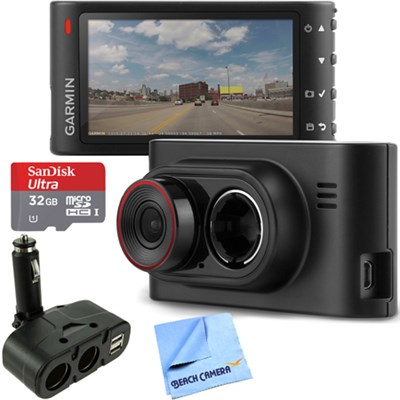 Dash Cam 35 Standalone HD Driving Recorder with GPS 32GB microSD Card Bundle