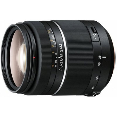 SAL2875 - 28-75mm f/2.8 SAM Constant Aperture Zoom A-Mount Lens
