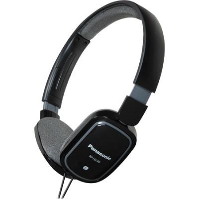 RP-HX40-K Slimz Light Weight On Ear Headphones (Black/Gray)