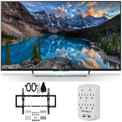 KDL-55W800C 55-Inch 1080p 120Hz 3D Smart LED Android TV Tilt Wall Mount Bundle