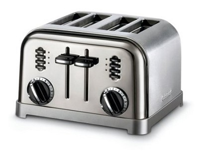 4 Slice Metal Classic Toaster - CPT-180BCH - Black Chrome